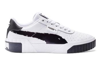 Puma Cali Brushed sportschoenen voor Dames Wit / Zwart 373896_01