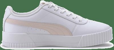 Puma Carina leren sportschoenen voor Dames Wit / Roze 370325_10