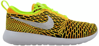Nike Roshe One Flyknit Volt/White-Total Orange-Black (W) 704927-702