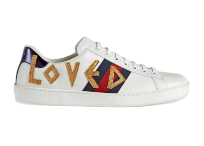 Gucci Ace Embroidered Love _497090 DOPE0 9095