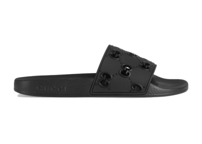 Gucci Slide Black Rubber (W) 573922 JDR00 1000