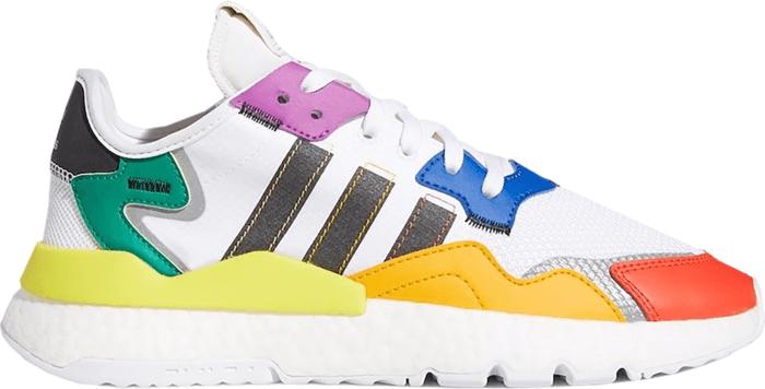 adidas Nite Jogger Pride Footwear White  FY9023