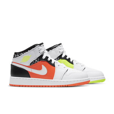 Jordan Air Jordan 1 Mid GS Hyper Crimson  554725-870