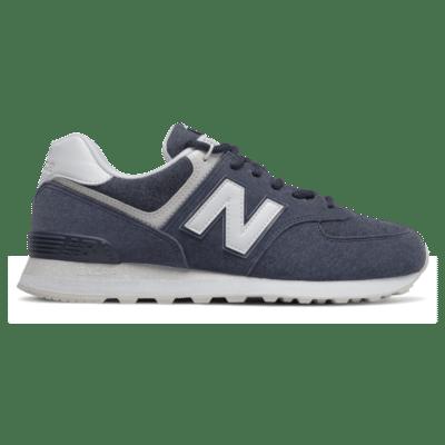 Herren New Balance 574 Navy/White ML574SPZ