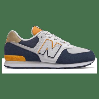 New Balance 574 Split Sail Natural Indigo/Chromatic Yellow