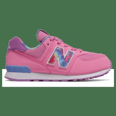 WoNew Balance 574 Tie Dye Candy Pink/Neo Violet