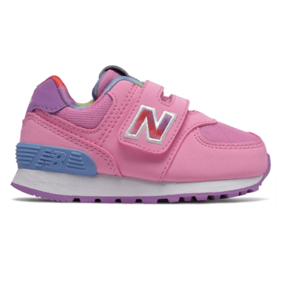 WoNew Balance Hook and Loop 574 Tie Dye Candy Pink/Neo Violet