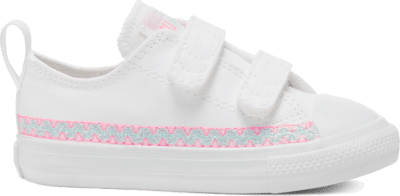 Converse Friendship Bracelet Easy-On Chuck Taylor All Star Low Top voor peuters White/Moonstone Violet/White 767787C