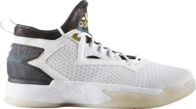 adidas D Lillard 2 White Multi-Color B49711