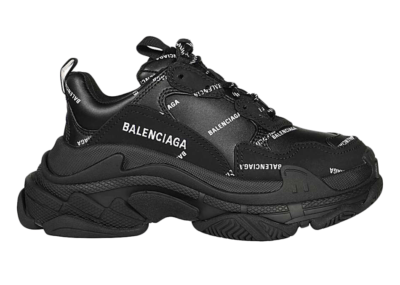 Balenciaga Triple S Black Logo (W) 524039 W2FA1 1090
