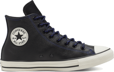 Converse Unisex Tumbled Leather Chuck Taylor All Star High Top Black 165959C