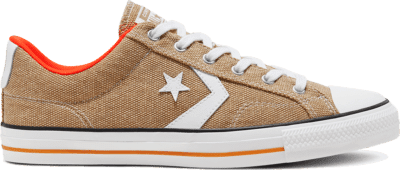 Converse Unisex Twisted Vacation Star Player Low Top Khaki/White/Bold Mandarin 167670C