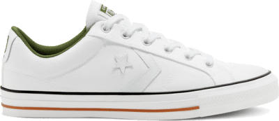 Converse Unisex Twisted Vacation Star Player Low Top White/White/Cypress Green 167671C