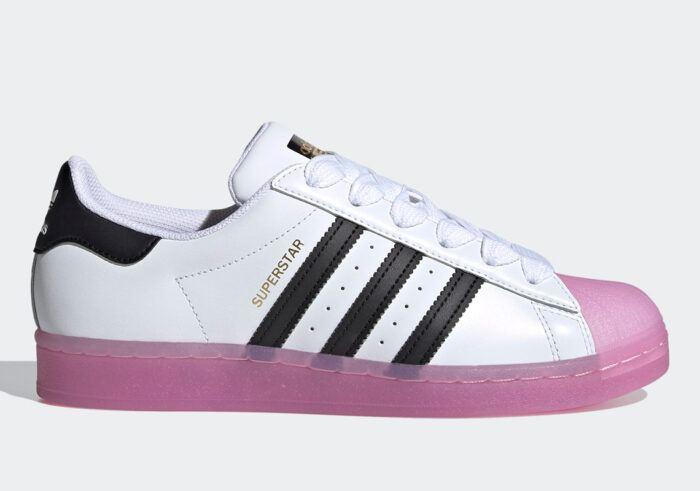 pink Adidas superstar jelly