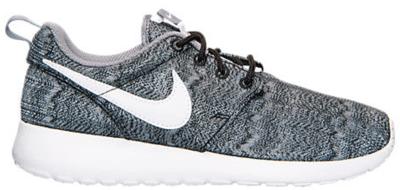 Nike Roshe Run Print Black White Anthracite (GS) 677782-001
