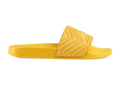 Gucci Slide Matelasse Yellow 601041 JD600 7114