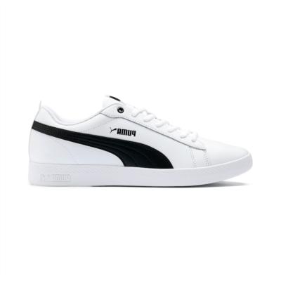 Puma Smash v2 leren sportschoenen voor Dames Wit / Zwart 365208_01