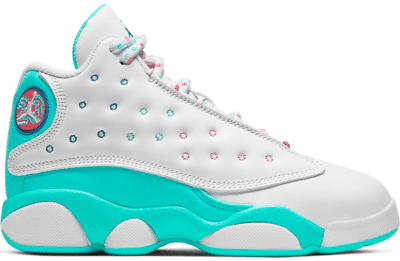 Jordan 13 Retro White Soar Green Pink (PS) 439669-100