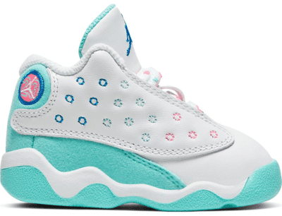 Jordan 13 Retro White Soar Green Pink (TD) 684802-100