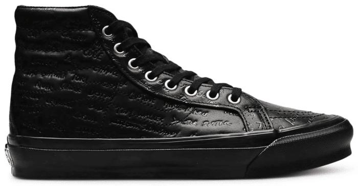 Vans Sk8-Hi LX Jim Goldberg Black Leather VN0A4BVB00V