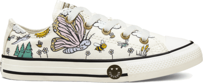 Converse Camp Converse Chuck Taylor All Star Low Top voor kids Vintage White/Moonstone Violet 667898C