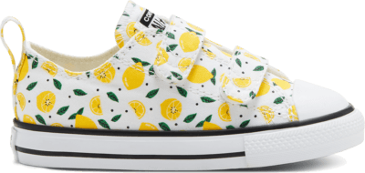 Converse Summer Fruits Easy-On Chuck Taylor All Star Low Top voor peuters White/Yellow/Green 768281C