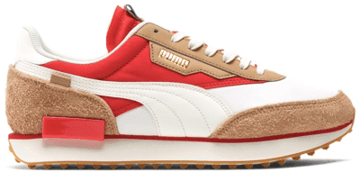 Puma Future Rider Game On White Pebble Red 371320-02