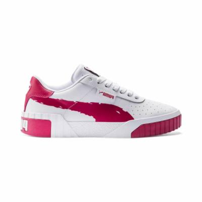 Puma Cali Brushed sportschoenen voor Dames Wit 373896_02
