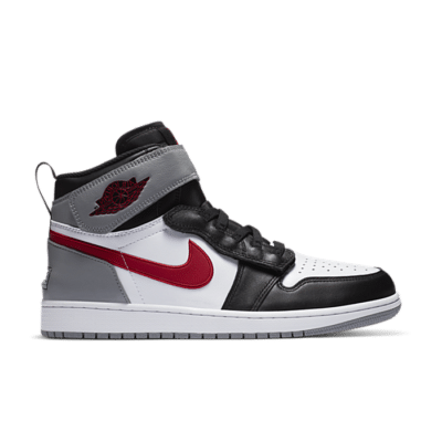 Jordan 1 Flyease Black Particle Grey Gym Red CQ3835-002
