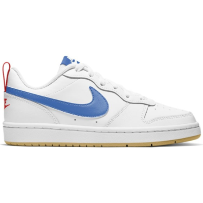 Nike court borough low 2 sneakers wit/blauw kinderen wit/blauw
