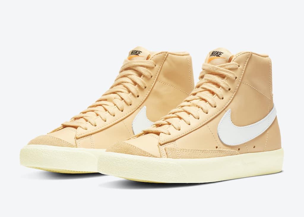 De nieuwe Nike Blazer 77 Mid Butter Canvas White: Als boter