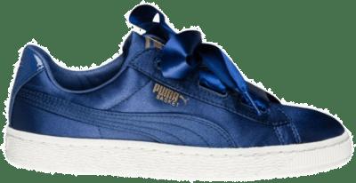 PUMA Basket Heart Tween Kinderen Sneaker 365141-03 blauw 365141-03