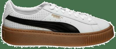 PUMA Basket Platform Perf Gum damessneaker 366807-01 wit 366807-01