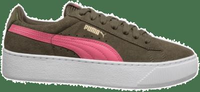 PUMA Vikky Plattform Dames Low Sneaker 363287-07 groen 363287-07
