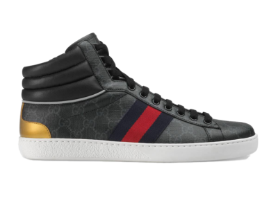 Gucci Ace GG High Top Black 555197 92T20 1140