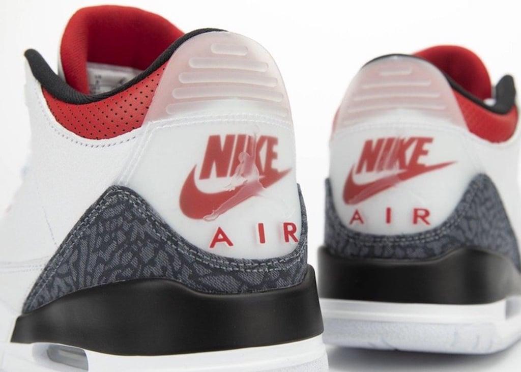 Een betere kijk op de Air Jordan 3 ES Denim Fire Red