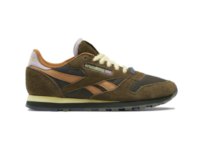 Reebok Brain Dead Classic Leather Schoenen Moss / Soft Camel / Filtered Yellow FY0832