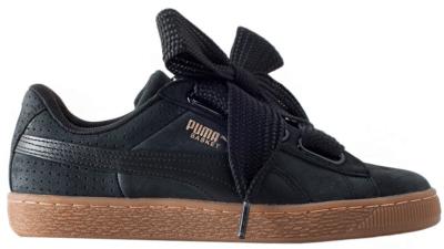 Puma Basket Heart Perf Black Gum (W) 366809-02