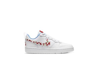 Nike Court Borough Low 2 White Cherry (GS) CJ2238-100