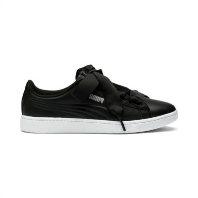 Puma Vikky v2 Ribbon Core sneakers voor Dames Zwart / Wit / Zilver 369114_01