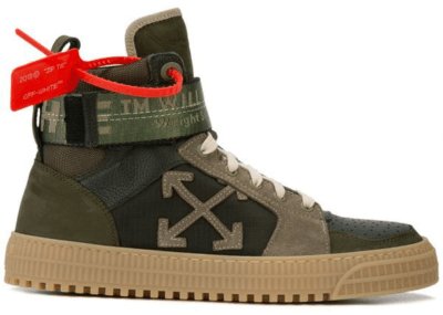 OFF-WHITE High Top Olive OMIA065R198000164300