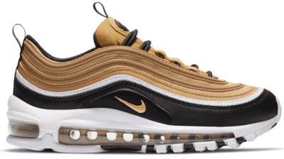 Nike Air Max 97 Metallic Gold Black White (GS) CZ9197-700