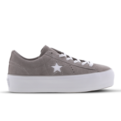 Converse One Star Platform Low Grey 563870C