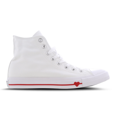 Converse Chuck Taylor All Star High Love The Progress White 164683C