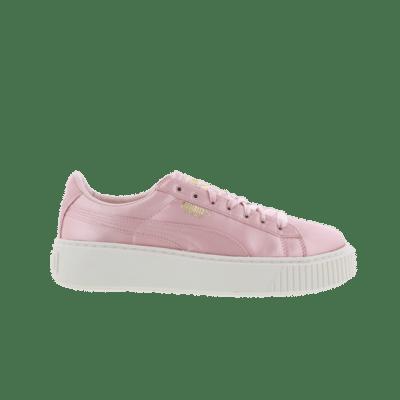 Puma Basket Platform Satin Pink 365719 01