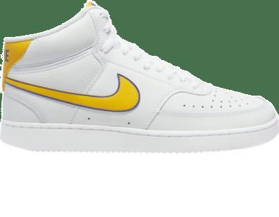 Nike – Court Vision – Halfhoge sneaker in wit-Multi Multi CD5466-102