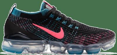Nike Air VaporMax Flyknit 3 Black Baltic Blue Hyper Pink (W) CZ7988-001