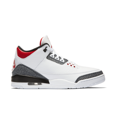 Air Jordan 3 'Denim' White/Black/Fire Red CZ6431-100