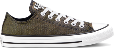 Converse Industrial Glam Chuck Taylor All Star Low Top voor dames Gold/ Black/ White 568589C