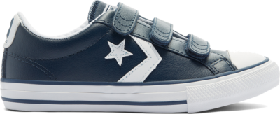 Converse Big Kids Easy-On Star Player Low Top Navy/ White 646139C